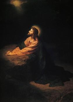 Christ in Gethsemane. wikipedia.org