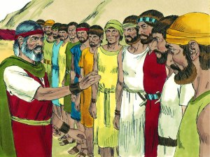 Moses sends 12 to Canaan, freebibleimages.org
