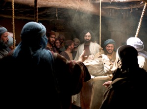 Jesus Heals Paralyzed. freebibleimages.org