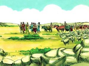 Abraham leaves Haran