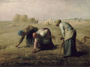 Gleaning for leftover grains