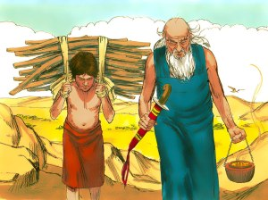 Abraham with son Isaac
