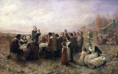 Thanksgiving celebration at Plymouth USA