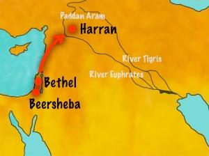 Padan Aram Map