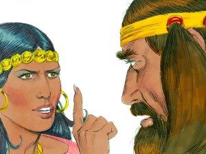 Delilah scolds Samson