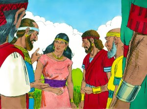 Philistine rulers persuade Delilah