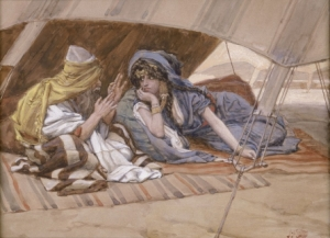 Abraham counsels Sarah