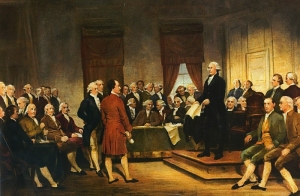 Signing the USA constitution