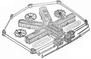 Portrait of modern-day prison